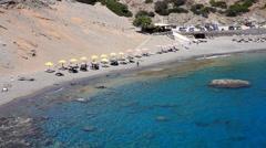 Agios Pavlos beach Stock Footage