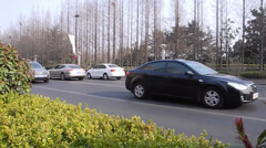 Automobile and city traffic Stock Footage