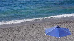 Sunshade at a beach Stock Footage