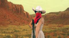 Girl lady shotgun shot gun Stock Footage