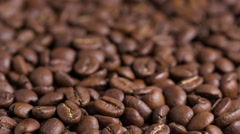 Dolly move coffee beans, made from raw Stock Footage