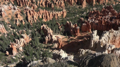 Bryce Canyon beautiful red rock valley mountains HD 126 Stock Footage
