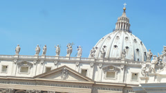 Dome of St.Peters Basilic, Rome, Italy. 4k - stock footage