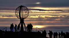 Europe Norway the North Cape 024 the earth globe on the plateau Stock Footage