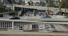 4K Freeway Timelapse 03 LA Downtown Stock Footage