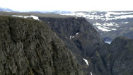 Stock Video Footage of Europe Norway the North Cape 021 steep coast and rock faces