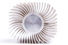 aluminum cpu cooler - stock photo