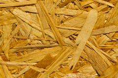 Texture – reconstituted wood panel, close up. oriented strand board osb Stock Photos