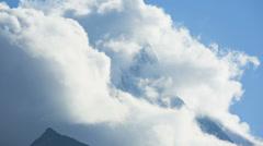 Time lapse cloudscape slopes and mountain, Matterhorn, Zermatt - stock footage