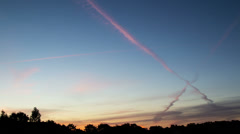 Stock Video Footage of cirrus clouds at dawn