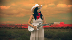 Adorable country music star 2 Stock Footage