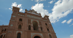 4K Close up video of The Plaza De Toros De Las Ventas Bullring In Madrid, Spain Stock Footage