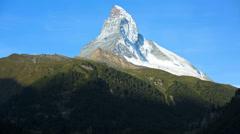 Motion time lapse morning view Matterhorn, Zermatt Stock Footage