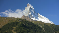 Time lapse air vortices East and North face Matterhorn - stock footage