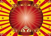 Stock Illustration of circus red and yellow horizontal background