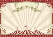 Stock Illustration of horizontal vintage circus