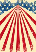 american dirty flag background - stock illustration