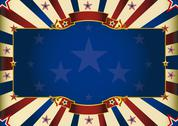 Stock Illustration of fantastic horizontal patriotic background