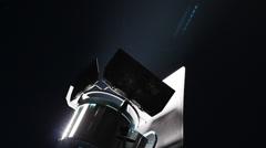 Spotlight reflector at night Stock Footage