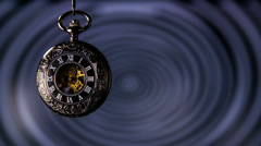 Old Pocket Watch With Spinning Hypnosis in Background - stock footage