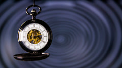Old Pocket Watch With Hypnosis in Background - stock footage