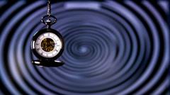 Pocket Watch Clock Hypnosis - stock footage