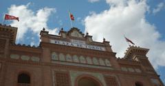 4K Close up of the Plaza De Toros De Las Ventas Bullring In Madrid, Spain Stock Footage