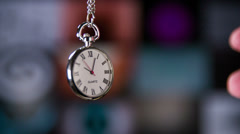 Holding on to time Stock Footage