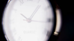 Time on Clock Ticking in Slow Motion Stock Footage