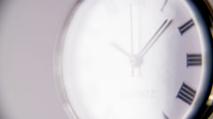 Slow motion Clock ticking - stock footage
