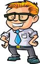 Stock Illustration of cute nerd office worker