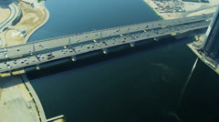 Aerial view Business Bay Bridge, Dubai Arkistovideo