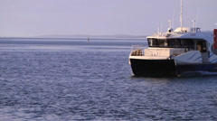 Jet ferry passing Stock Footage