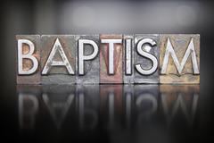 Baptism letterpress Stock Photos
