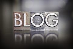 Blog letterpress type Stock Photos