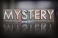 mystery letterpress - stock photo