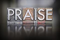 praise letterpress - stock photo