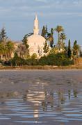 hala sultan tekke mosque - stock photo