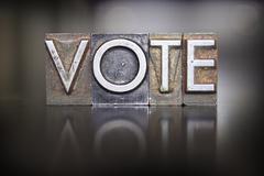 Vote letterpress Stock Photos