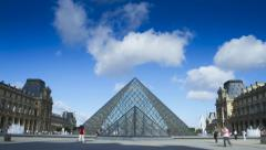 Musee du Louvre Stock Footage