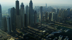 Aerial Skyline view Dubai city Stock Footage