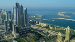 Aerial view of Media City Dubai Stock Footage