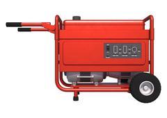 portable generator - stock illustration