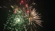 Stock Video Footage of Real Fireworks Footage