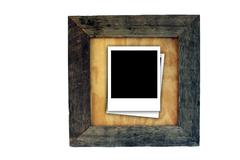 Wood frame with polaroid inserts Piirros
