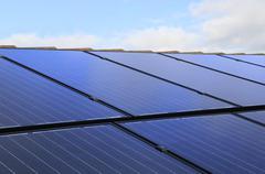 Solar electricity Stock Photos
