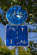 Bicycle road signs Stock Photos