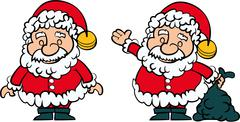 Santa clause set of 2 Stock Illustration