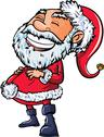 Stock Illustration of santa with a big smile