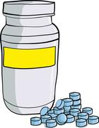 Bottle of medicinal pills Stock Illustration